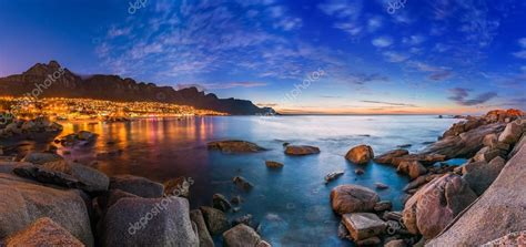 cape town camps bay table mountain  background  night