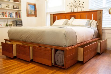 king size bed with storage drawers underneath king size light brown lacquered oak wood bed frame with
