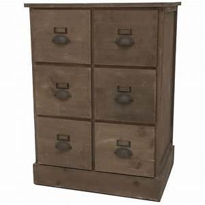 Meuble à Tiroir : meuble semainier chiffonnier grainetier tiroir bois pin ~ Edinachiropracticcenter.com Idées de Décoration
