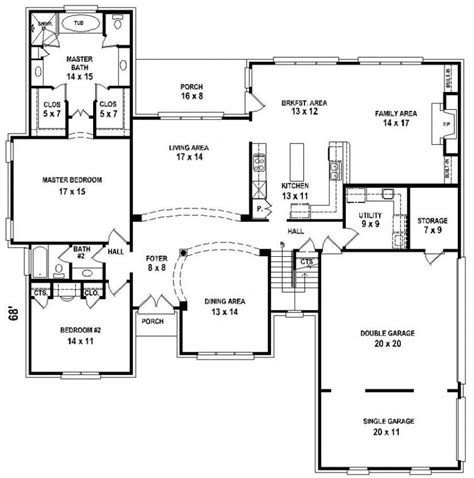 house plans with and bathrooms 654206 5 bedroom 4 bath house plan house plans floor