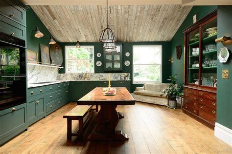 victorian green marble  brass kitchen design digsdigs
