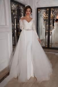 wedding gowns with detachable trains detachable v neck court tulle sheath column wedding dress acd0028