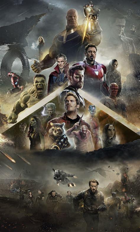 avengers infinity war  poster mobile wallpaper
