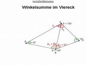 Winkel Berechnen Viereck : winkelsumme im viereck youtube ~ Themetempest.com Abrechnung