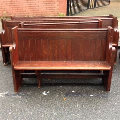 reclaimed pitch pine church pews for sale on salvoweb from