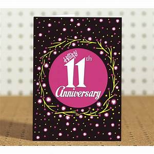 11th wedding anniversary gift for friend collegue With 11th year wedding anniversary gift