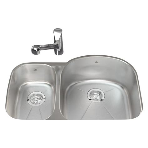Kindred Sinks by Kindred Stainless Undermount Offset Kitchen Sink