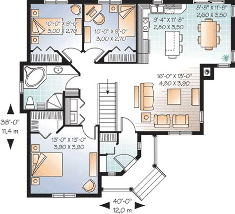 bedrooms  angled entry dr architectural designs house plans