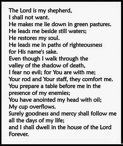 Psalm Lord Psalms Bible Shepherd Printable Verses
