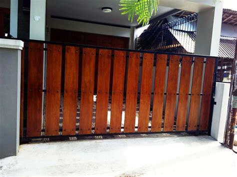 jual pagar rumah kombinasi kayu  lapak dika febriansyah