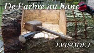 Comment Creuser Un Tronc D Arbre : de l 39 arbre au banc episode1 youtube ~ Melissatoandfro.com Idées de Décoration