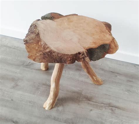 driepoot stoel hout tafel schijf driepoot eiken poten meubelmakerij telman
