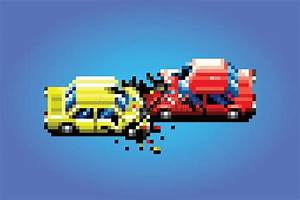 Pixel Art Voiture De Sport : car crash accident pixel art game style illustration stock vector image 55868734 ~ Maxctalentgroup.com Avis de Voitures