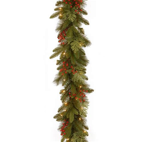 9ft pre lit classical collection feel real artificial christmas garland hayes garden world