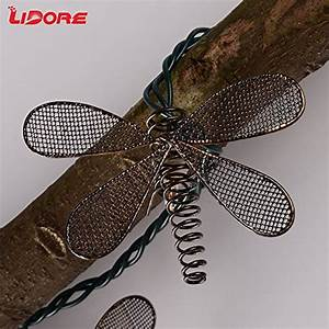 Dragonfly Patio Lights String Lidore 10 Counts Metal Dragonfly Patio String Light Warm