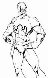Coloring Beetle Lesson Superhero Template sketch template