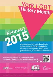 Thirty events across York to mark LGBT History Month 2015 ...