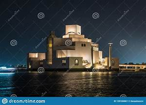 Night, View, Of, The, Museum, Of, Islamic, Art, In, Doha, Editorial