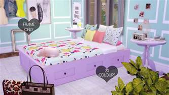 Daybed Bedding Sets For Girls by My Sims 4 Blog Basic Double Bed Frame In 20 Colors By
