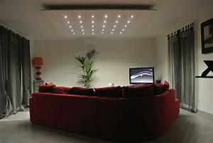 un salotto moderno e chic illuminato da faretti led bianchi Faretti Pinterest
