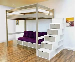 Lit Mezzanine Double : 23 best images about lit mezzanine abc meubles on ~ Premium-room.com Idées de Décoration