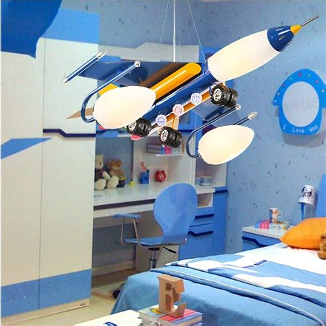 airplane chandelier kid s bedroom blue airplane led pendant l baby s