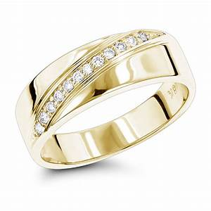 18k gold men39s diamond wedding ring 012ct With wedding rings gold and diamond