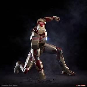 5K'3D: Iron Man 3 - armor Mark 42