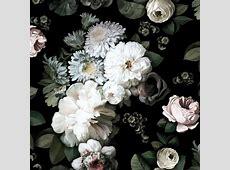 Dark Floral Wallpaper by Ellie Cashman Design