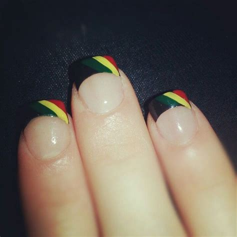rasta french manicure tips cosmeticsstyles
