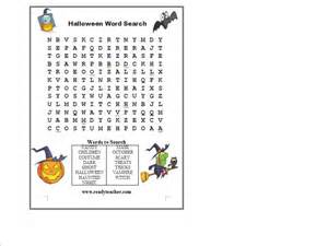 Halloween Word Searches Puzzles