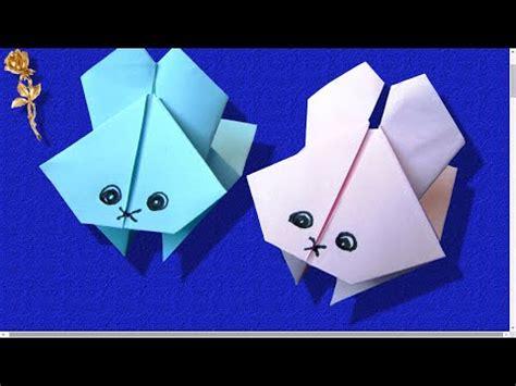 si e sauteur origami lapin sauteur très amusant