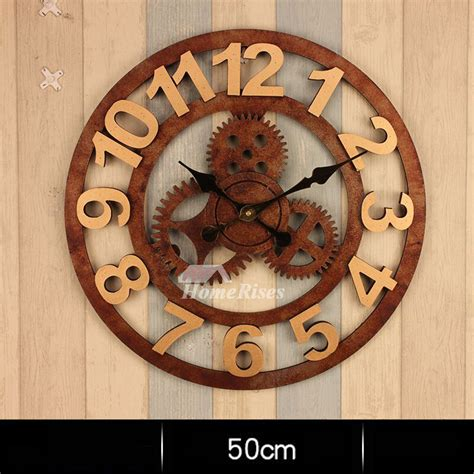 gear wall clock    large mechanical industrial skeleton