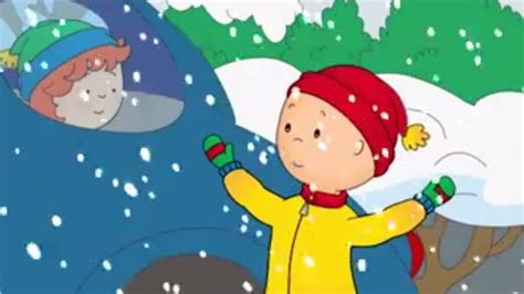 Caillou Plays In The Snow