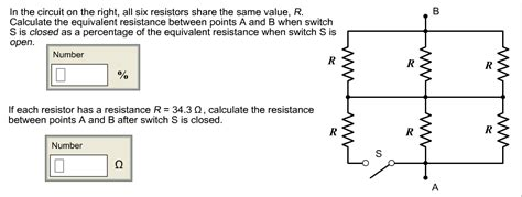 Solved The Circuit Right All Six Resistors Sha