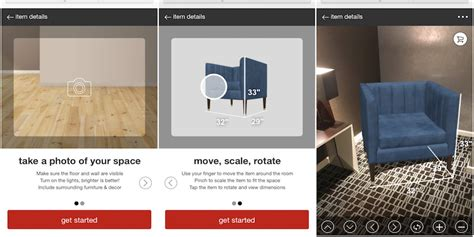 targets  augmented reality feature  furniture
