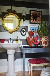 love this bathroom make over with all the quirky details ...