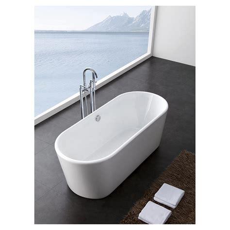 """Jenna 59"""" Small Soaking Bathtroom Tub Acrylic Construction"""