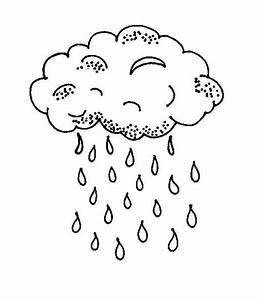 Best Photos of Cloud And Raindrops Coloring Page Activity ...