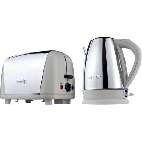 coloured toaster and kettle set prestige 53233 almond coloured 1 7 litres kettle toaster