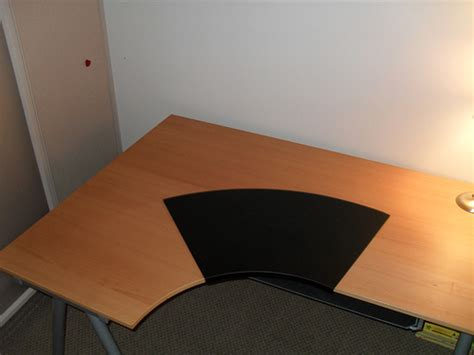 desk pad ikea ikea galant desk w knos desk pad summera pull out keybo