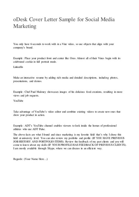 How To Write A Marketing Cover Letter by Write A Cover Letter Marketing