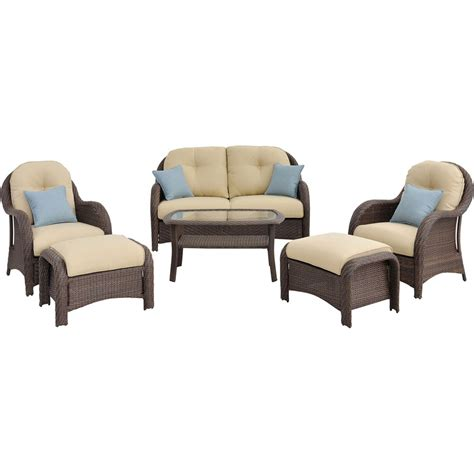 hanover outdoor furniture newport wicker 6 pc