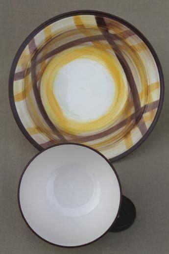 vintage vernon kilns organdie plaid pottery serving pieces