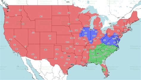 nfl tv schedule coverage maps  week