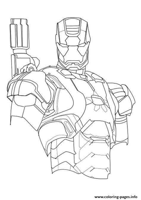 iron patriot  avengers marvel coloring pages printable