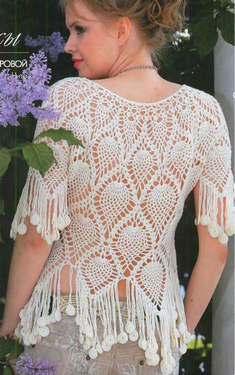 pineapple blouse blouse crochet pineapple stitch