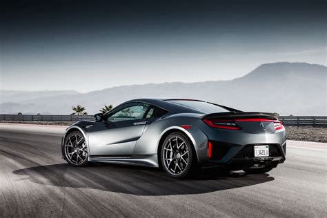 Wallpaper Honda Nsx Acura Nsx Rear View 2017 Cars