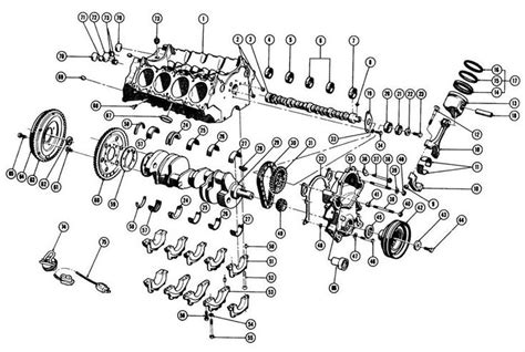 engine block exc   exploded view