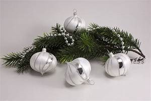 Weihnachtskugeln Aus Lauscha : eis weiss silber christbaumkugeln christbaumschmuck ~ Orissabook.com Haus und Dekorationen